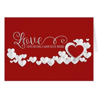 Dia dos namorados - onda dos corações & amor WA Cartão
