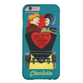 Dia dos namorados retro do vintage, amor e romance capa barely there para iPhone 6