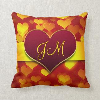dia dos namorados vermelho do coração do amor travesseiro de decoração