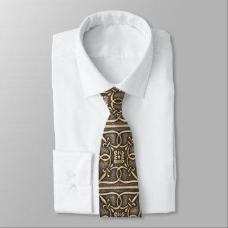 Dia dos pais celta de bronze do nó do ouro gravata