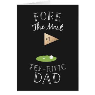 Dia dos pais do T-rific Cartão Comemorativo
