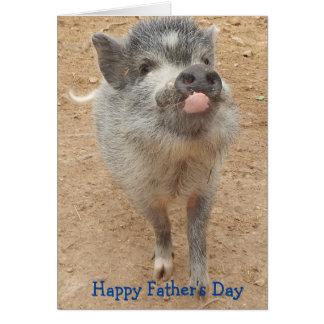 Dia dos pais feliz personalizado, mini cartão do cartão comemorativo