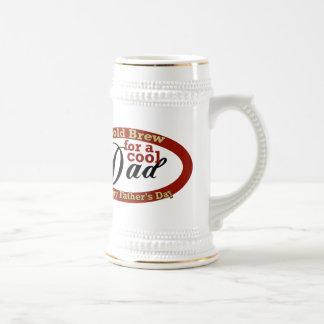 Dia dos pais legal do pai caneca de cerveja