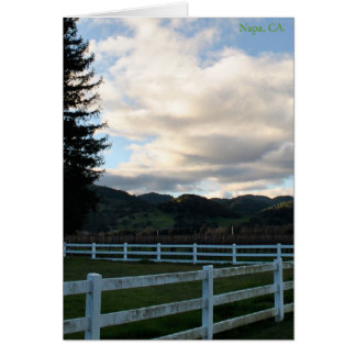 Dia em Napa Valley Cartão