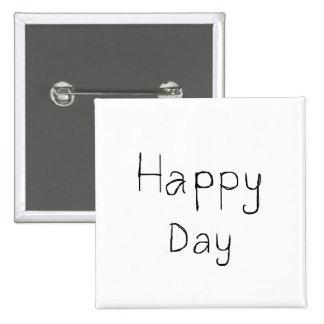 Dia feliz botão do quadrado de 2 polegadas bóton quadrado 5.08cm