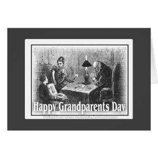 Dia feliz das avós cartão comemorativo