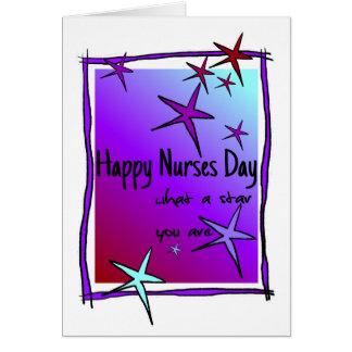 Dia feliz das enfermeiras cartão