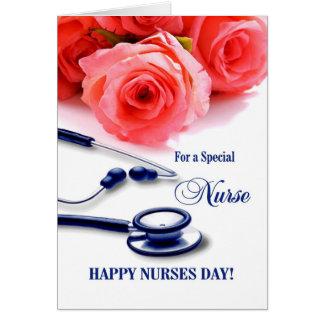 Dia feliz das enfermeiras. Cartão customizável