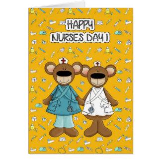 Dia feliz das enfermeiras. Cartões engraçados do