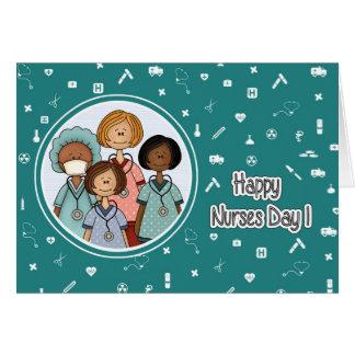 Dia feliz das enfermeiras. Cartões feitos sob