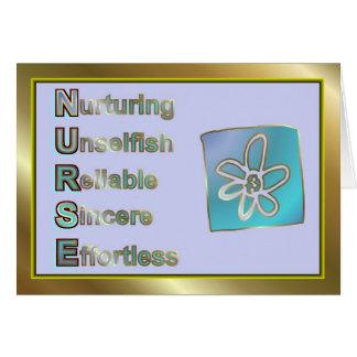 Dia feliz das enfermeiras para a enfermeira de cartão