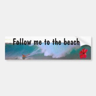 Dia grande da praia da onda adesivo para carro