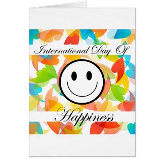 Dia internacional do dia comemorativo da cartão comemorativo