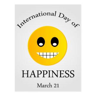 Dia internacional do dia comemorativo da cartão postal