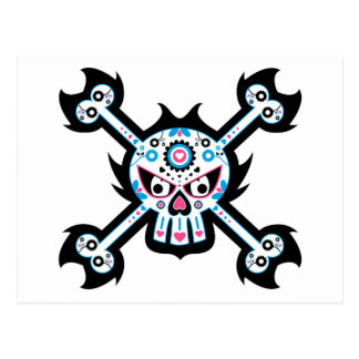 """Dia mexicano de """"do crânio inoperante Diâmetro de  Cartao Postal"""