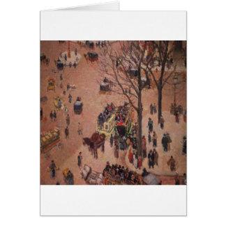 Dia ocupado justo da cidade abstrata da cidade cartão comemorativo