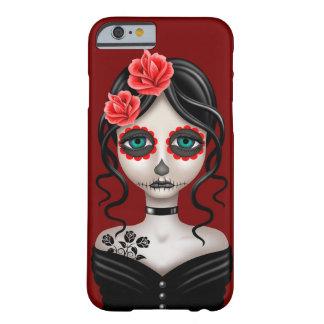 Dia triste da menina inoperante no vermelho capa barely there para iPhone 6