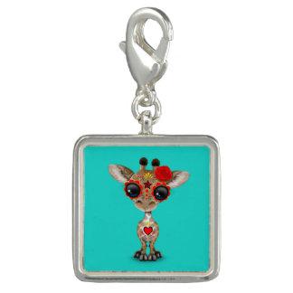 Dia vermelho do girafa inoperante do bebê charm com foto