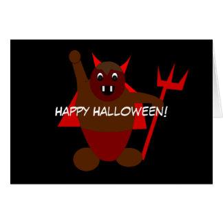 Diabo do Dia das Bruxas Cartão Comemorativo
