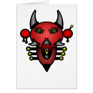 Diabo retro cartão comemorativo