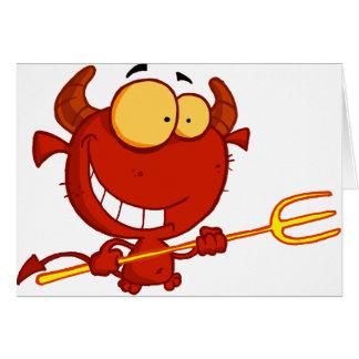 Diabo vermelho que guardara cartões de um