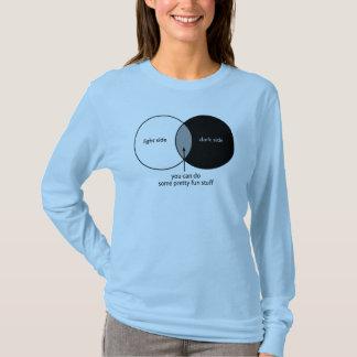 Diagrama de Venn do lado escuro Camiseta