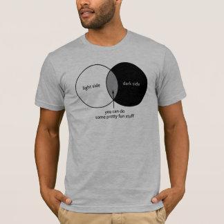 Diagrama de Venn do lado escuro Tshirt
