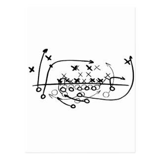 Diagrama do jogo da estratégia do futebol do cartão postal