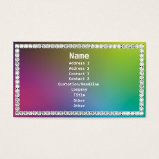 Diamante-Colorido Cartão De Visita