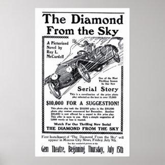 Diamante do poster 1915 do anúncio do filme do vin