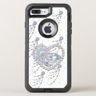 Diamante & pérolas, caso de Otterbox Capa Para iPhone 7 Plus OtterBox Defender