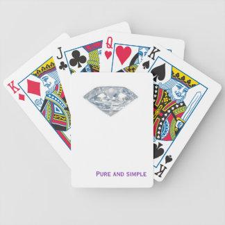 Diamante puro e simples baralhos de carta
