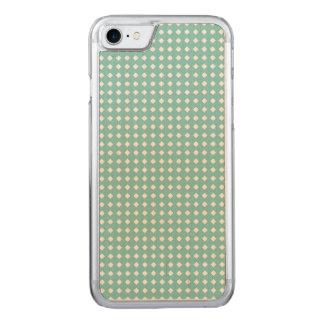 Diamantes brancos pequenos do teste padrão bonito capa para iPhone 7 carved