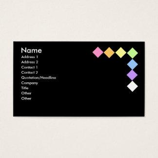 Diamantes coloridos cartão de visita