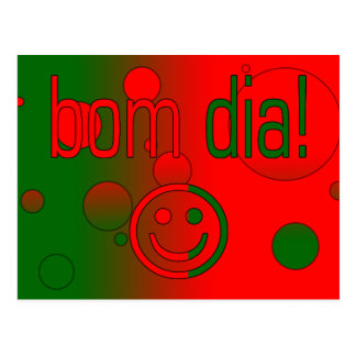 Diâmetro de Bom! A bandeira de Portugal colore o p Cartao Postal