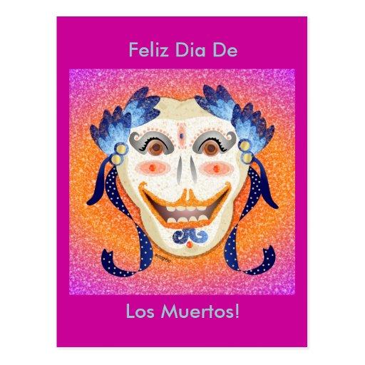 Diâmetro De Los Muertos Cartão Cartão Postal
