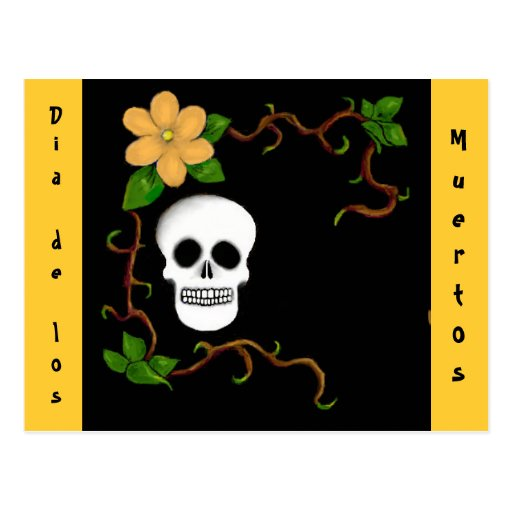 Diâmetro de los Muertos Cartão Cartao Postal