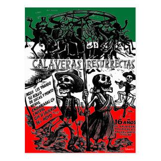 Diâmetro de los Muertos (dia do morto) Cartão Postal