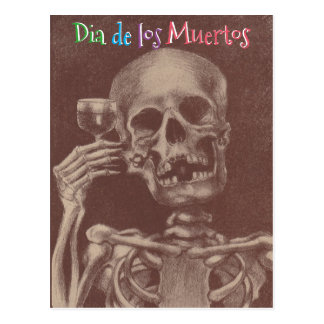 Diâmetro de los Muertos Dia dos cartão inoperantes Cartão Postal