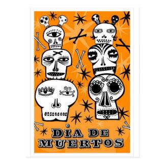Diâmetro de Muertos Cartão Postal