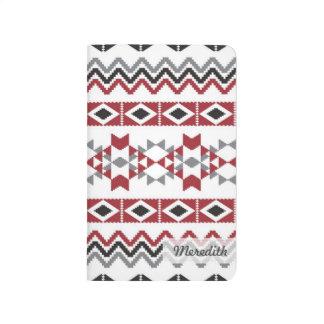 Diário Asteca tribal jornal personalizado do bolso