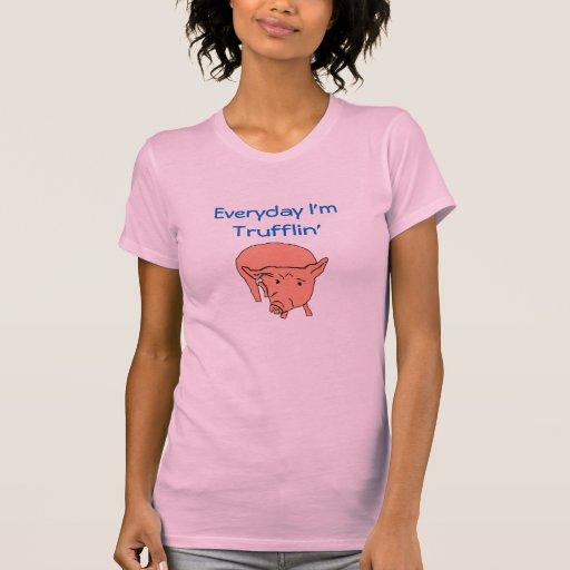 Diário eu sou T do porco de Trufflin Camisetas