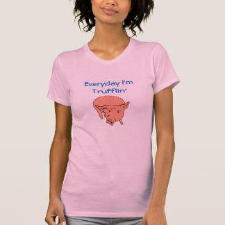 Diário eu sou T do porco de Trufflin Tshirts