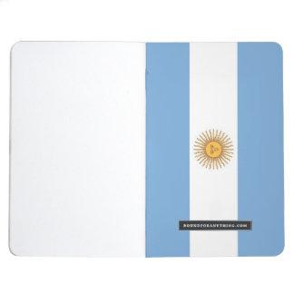 Diário Jornal patriótico com a bandeira de Argentina