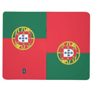 Diário Jornal patriótico com a bandeira de Portugal