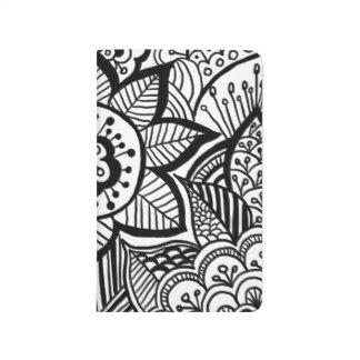 Diário Mão boémia Doodle tirado feminino