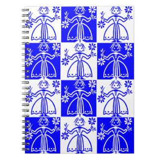 Diário nórdico do caderno da menina do Finn azul