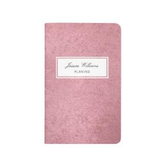 Diário Ouro cor-de-rosa do falso moderno