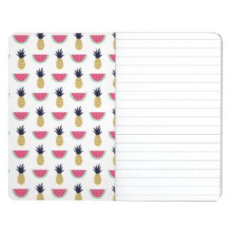 Diário Teste padrão bonito do Doodle do abacaxi & da
