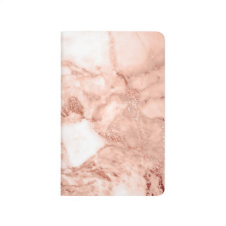 Diário Teste padrão de mármore do falso cor-de-rosa